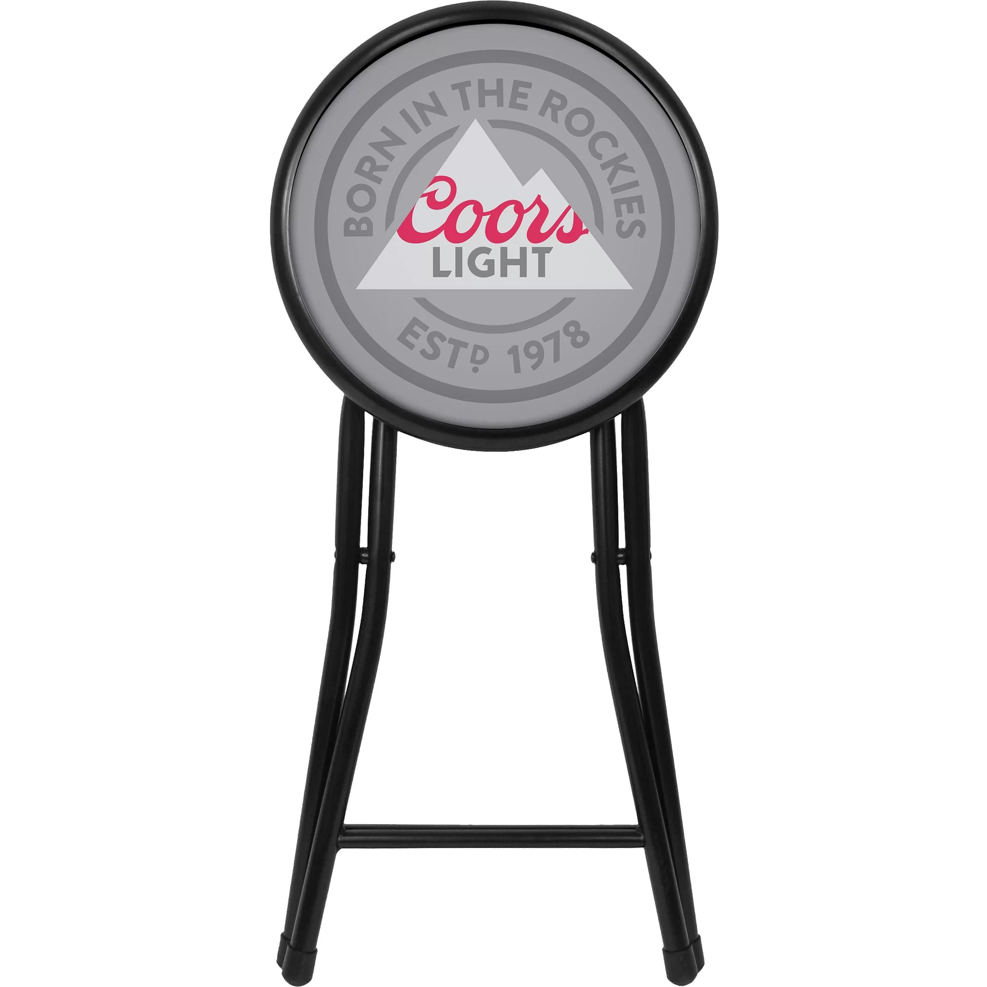 coors light chair how to reupholster kitchen chairs miller cushioned folding stool wayfair