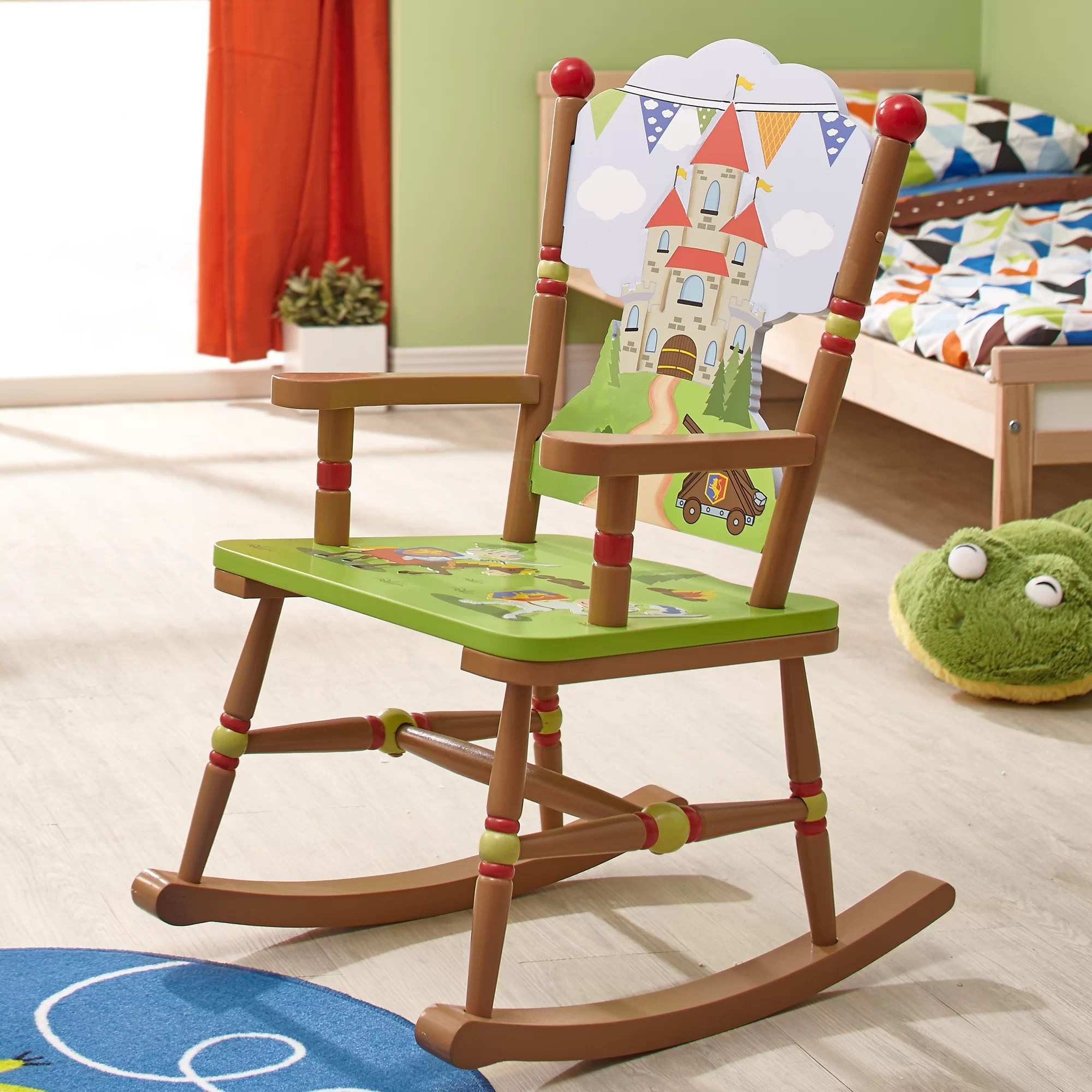 Kids Rocking Chairs Fantasy Fields Knights And Dragons Kids Rocking Chair Wayfair