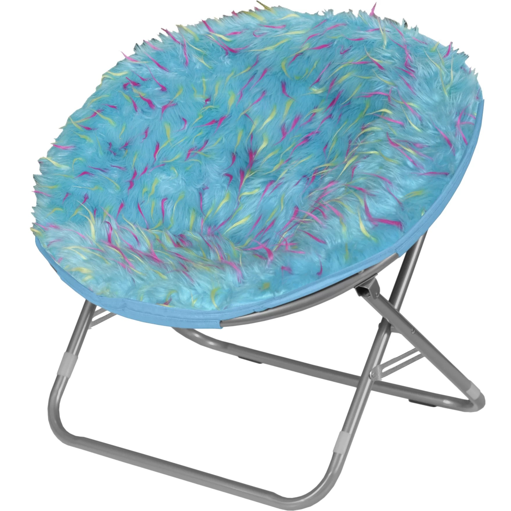 saucer chair for kids high 3 in 1 idea nuova rock your room spiker faux fur papasan