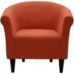 Orange Bucket Chair Linen Dining Room Slip Covers Zipcode Design Liam Club And Reviews Wayfair