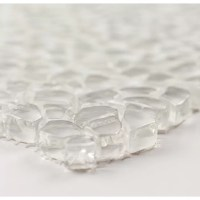 Martini Mosaic Calca Glass Mosaic Tile in Crystal Ice
