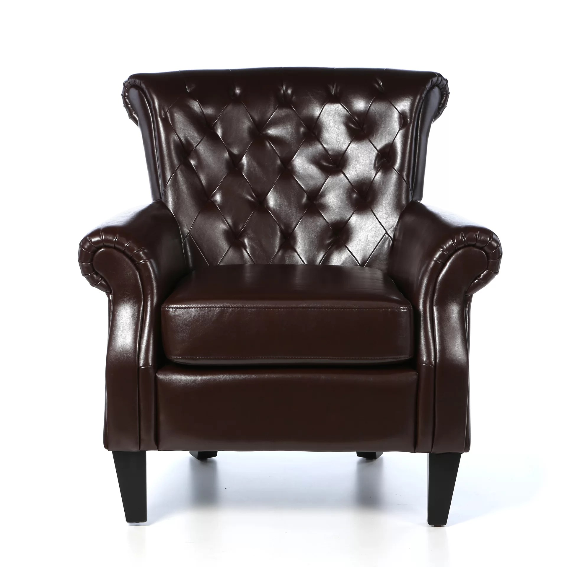 Upholstered Club Chair Home Loft Concepts Mcclain Tufted Upholstered Club Chair
