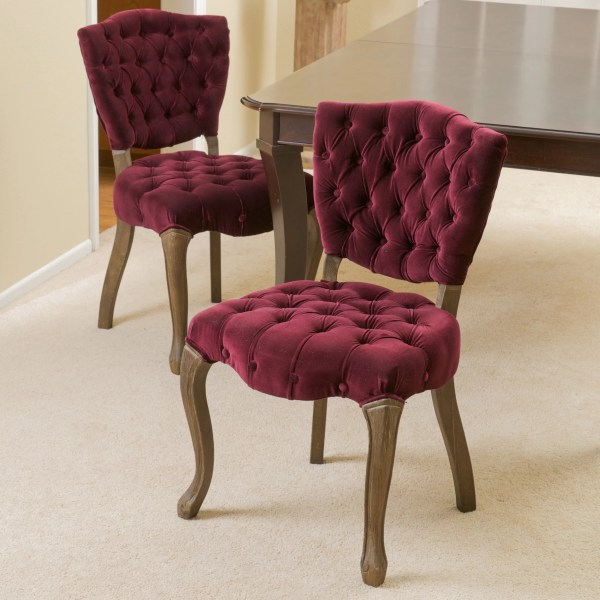 Yates Home Loft Concept Tufted Fabric Dining Chairs