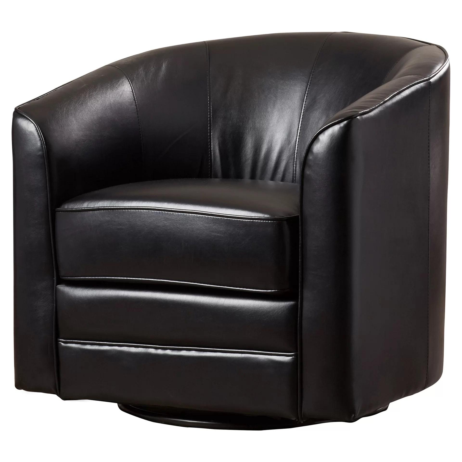 Andover Mills Wells Swivel Barrel Chair  Reviews  Wayfair