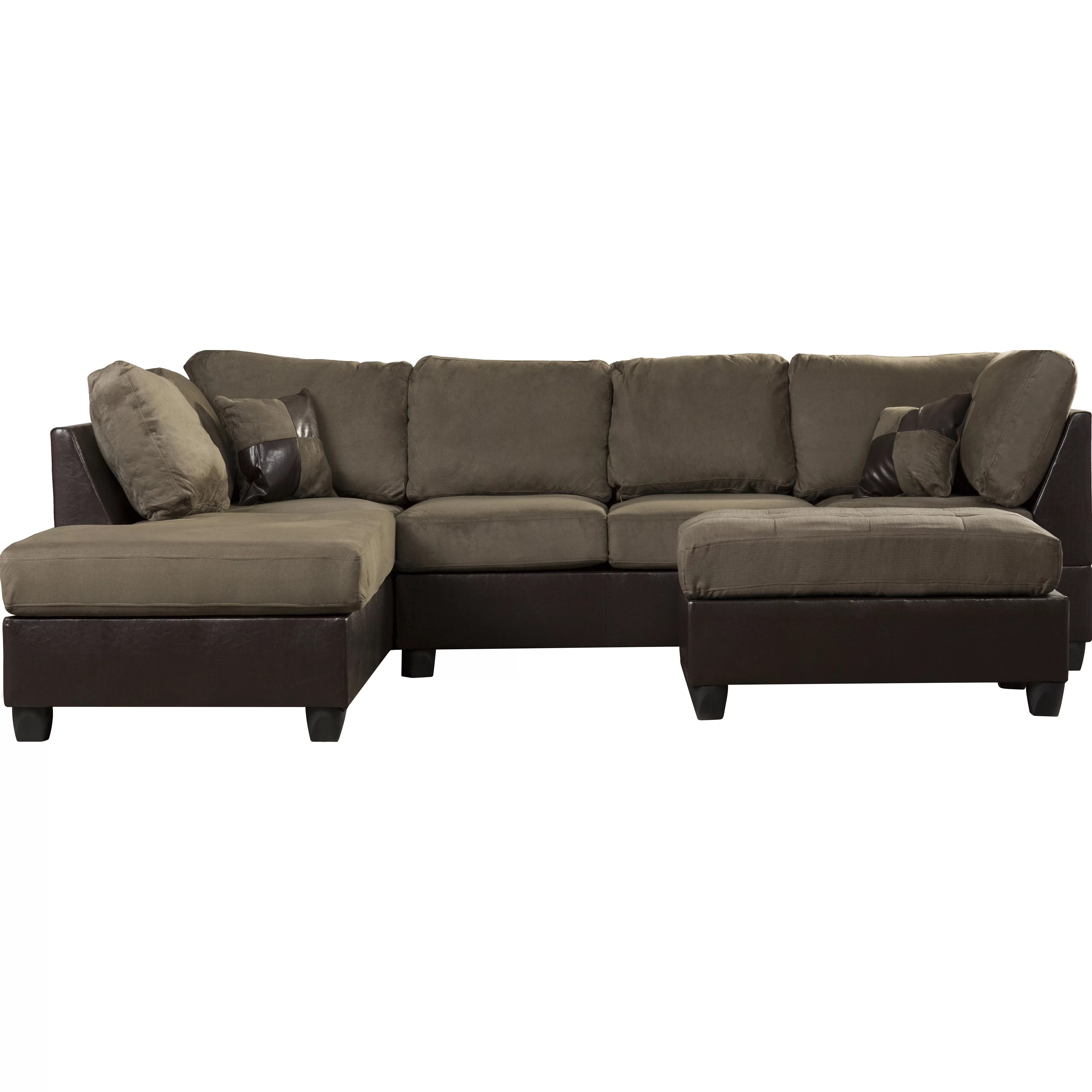 reversible sectional sofa chaise black reclining with cup holders andover mills corporate 112 quot
