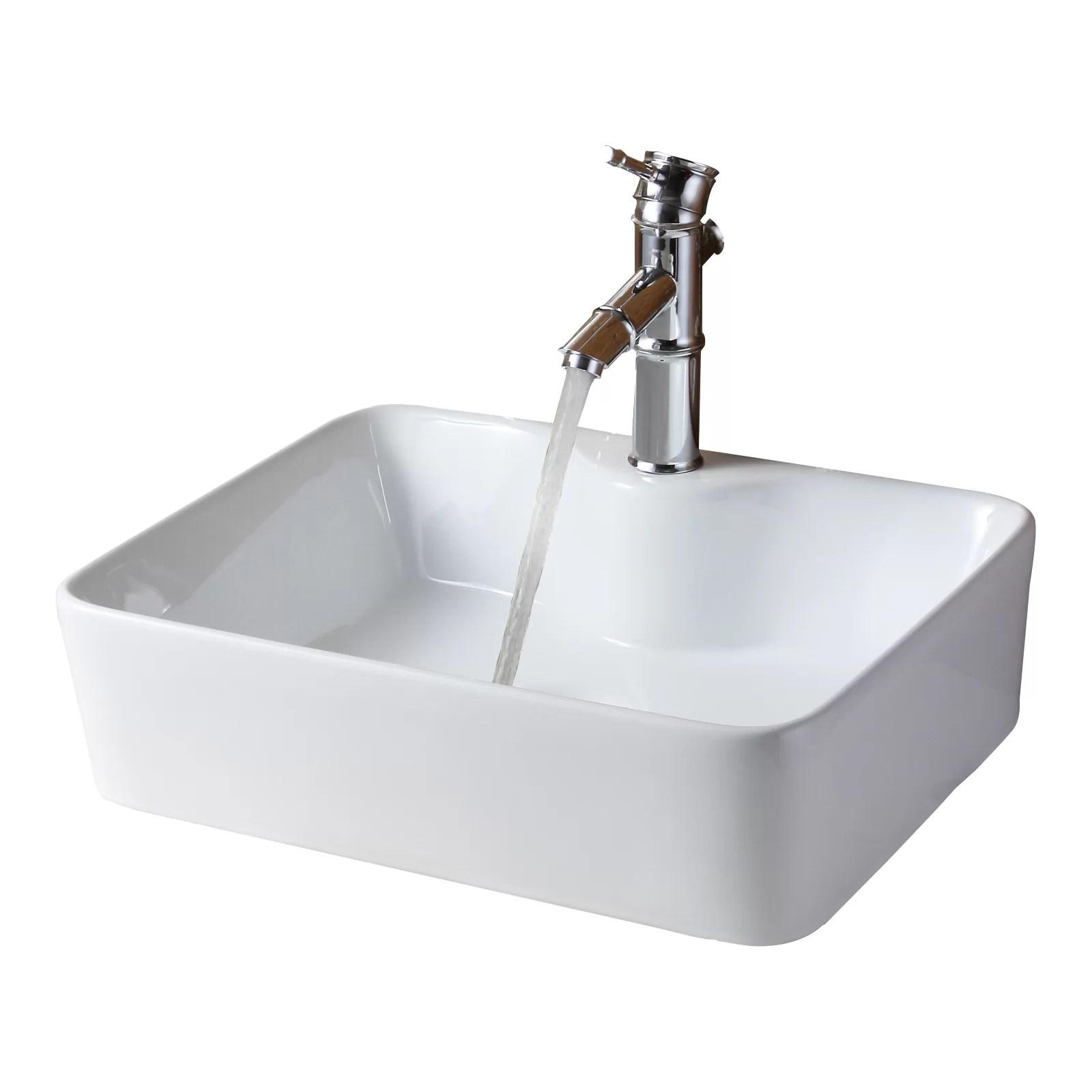 Elite Ceramic Rectangular Vessel Bathroom Sink  Reviews