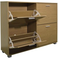 dCor design Extra Large 24 Pair Shoe Storage Cabinet ...