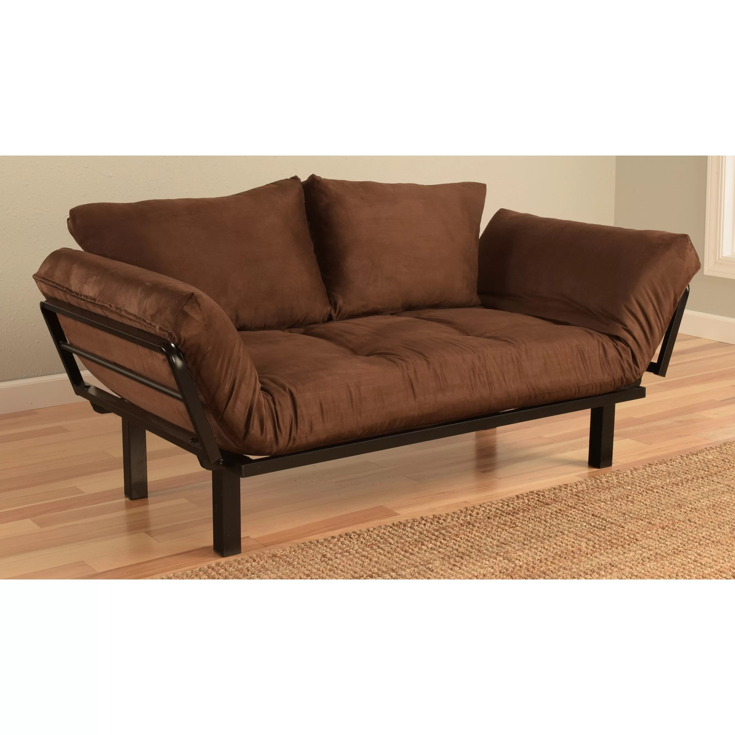 convertible futon sofa bed lounger sfc kodiak furniture spacely
