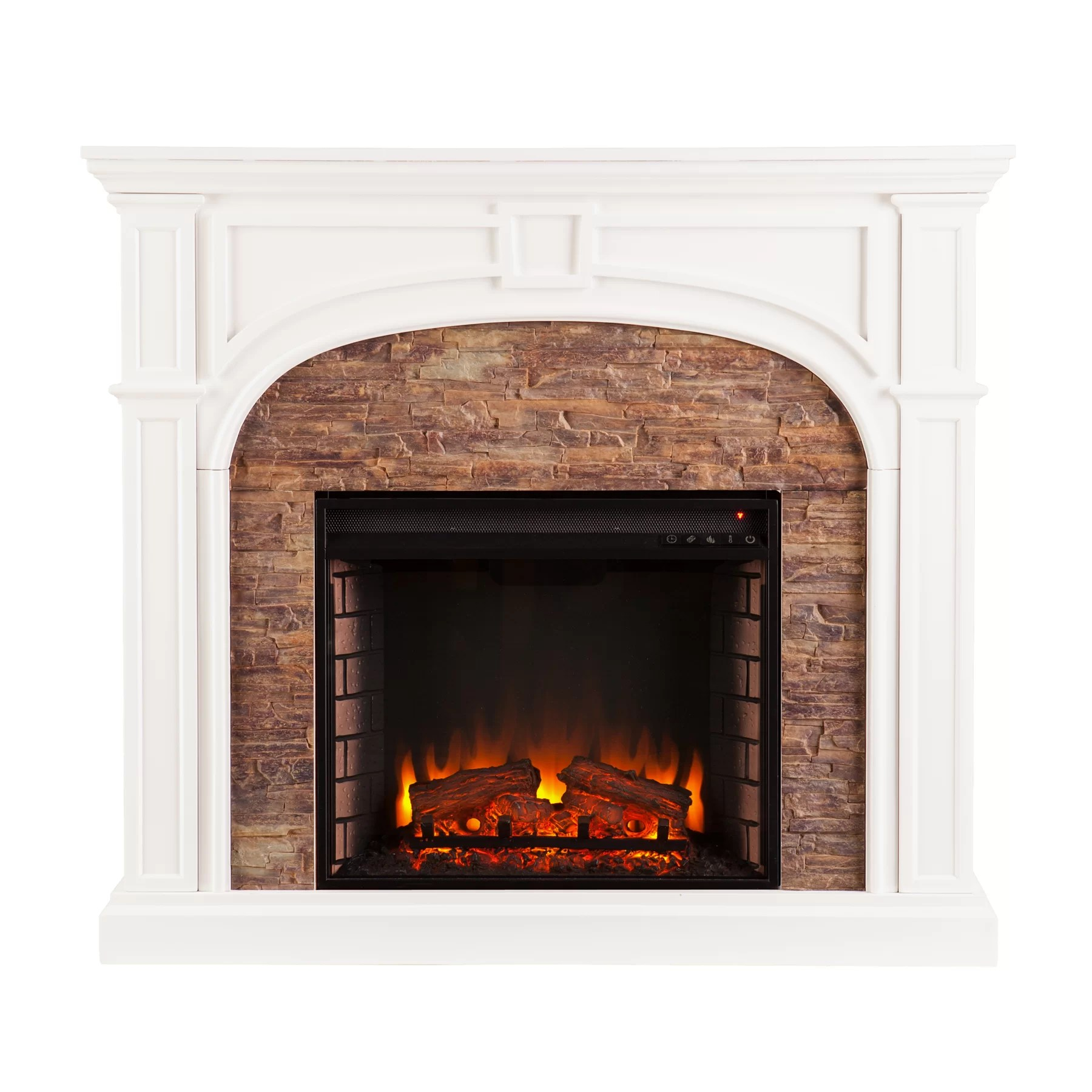 Three Posts Bairdford Stacked Stone Effect Electric Fireplace  Reviews  Wayfair
