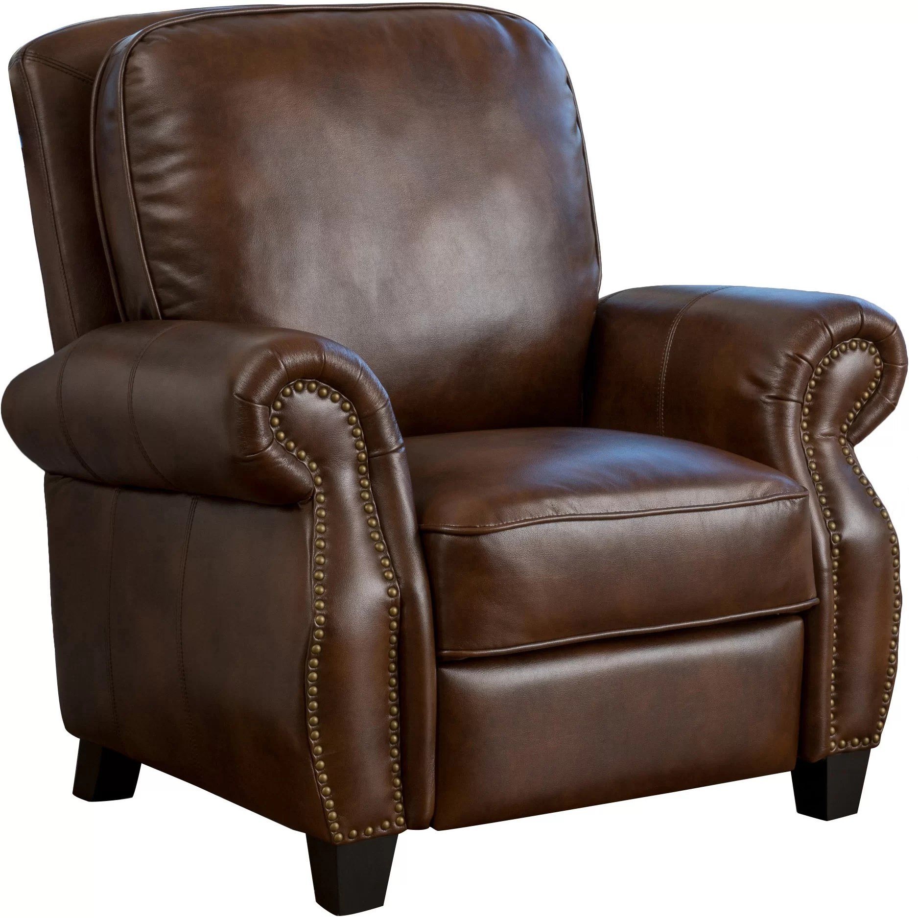 Leather Reclining Chair Three Posts Tully Faux Leather Recliner And Reviews Wayfair