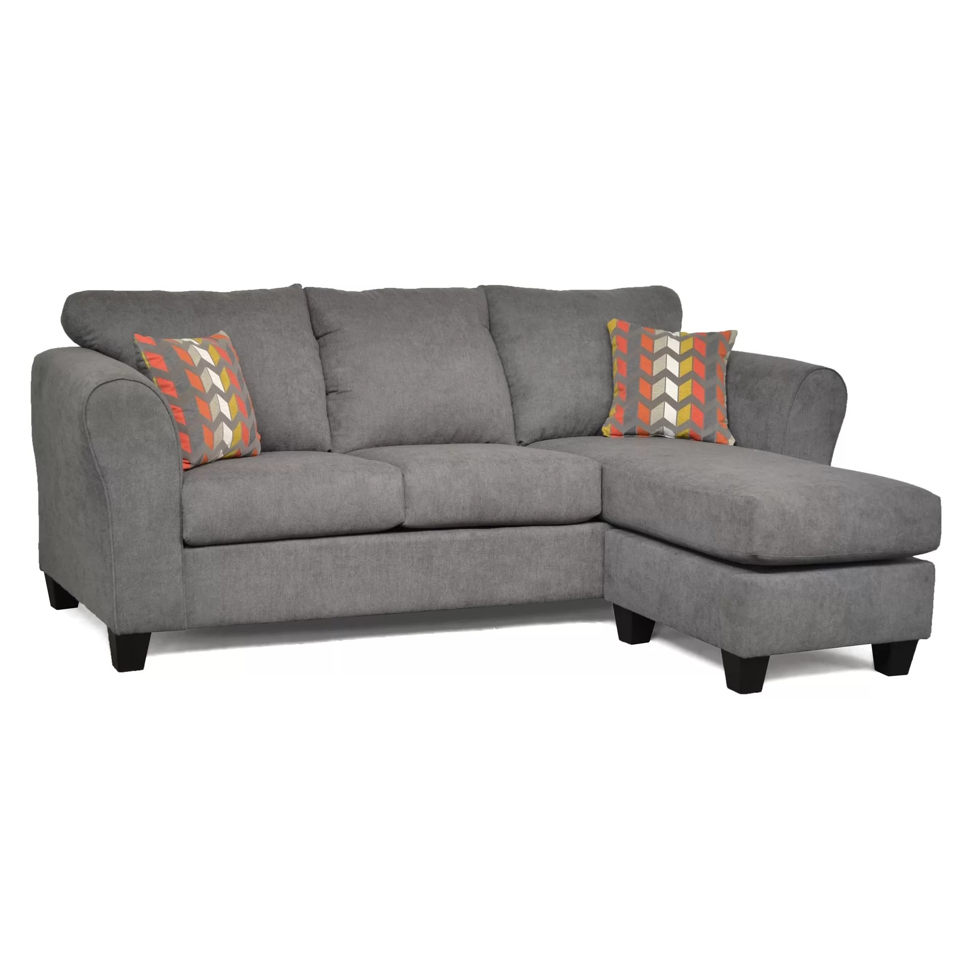 reversible sectional sofas with chaise cuddler sofa three posts fredericktown