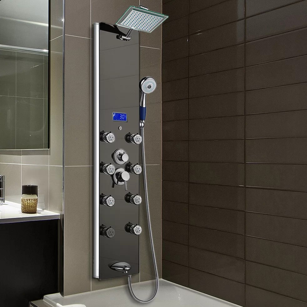AKDY Tower Rainfall Shower Panel System & Reviews