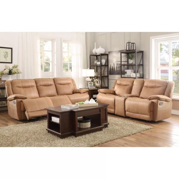 Homelegance Wasola Triple Reclining Sofa &
