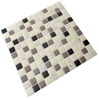 "Instant Mosaic 12"" x 12"" Epoxy Peel & Stick Mosaic Tile in ..."