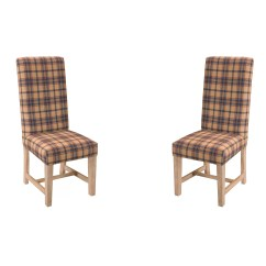 Tartan Dining Chair Covers For Sale Navy Club Château Chic Solid Wood Upholstered Wayfair Uk