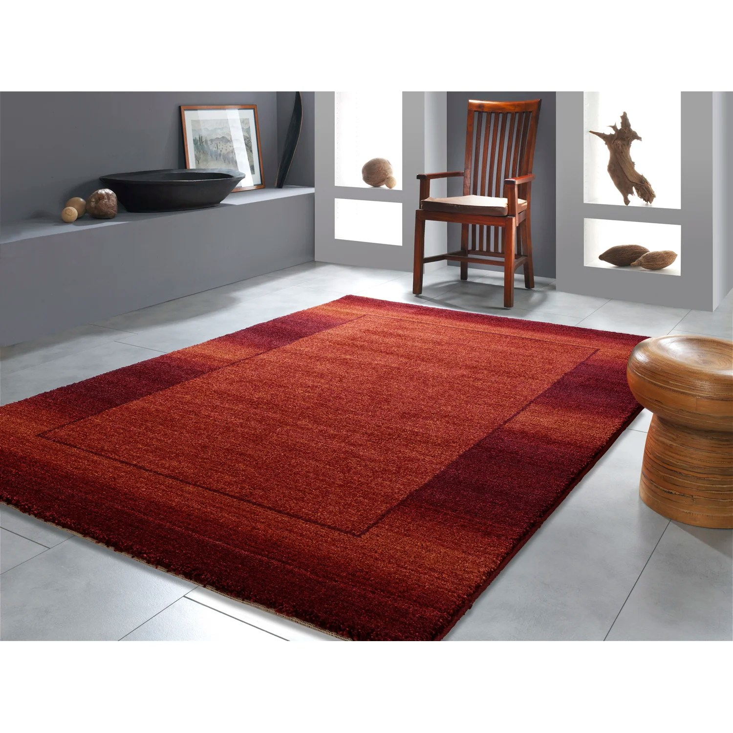Kuhfell Teppich Rot Teppich In Rot Designer Teppich Muster Karo Creme Rot