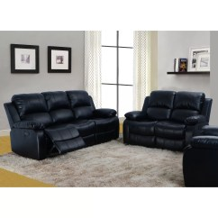 Bonded Leather Reclining Sofa Set Pottery Barn Comfort Square Reviews Beverly Fine Furniture Denver 2 Piece