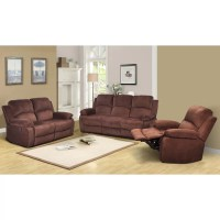 Beverly Fine Furniture Denver 3 Piece Microfiber Reclining ...