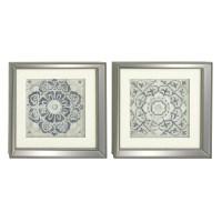 Cole & Grey 2 Piece Polystone Mirror Framed Wall Art Set ...