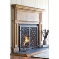 Plow & Hearth Single Panel Geometric Fireplace Screen ...