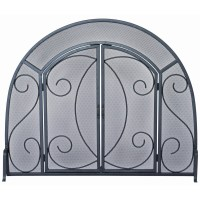 Uniflame Wrought Iron Ornate Fireplace Screen & Reviews ...