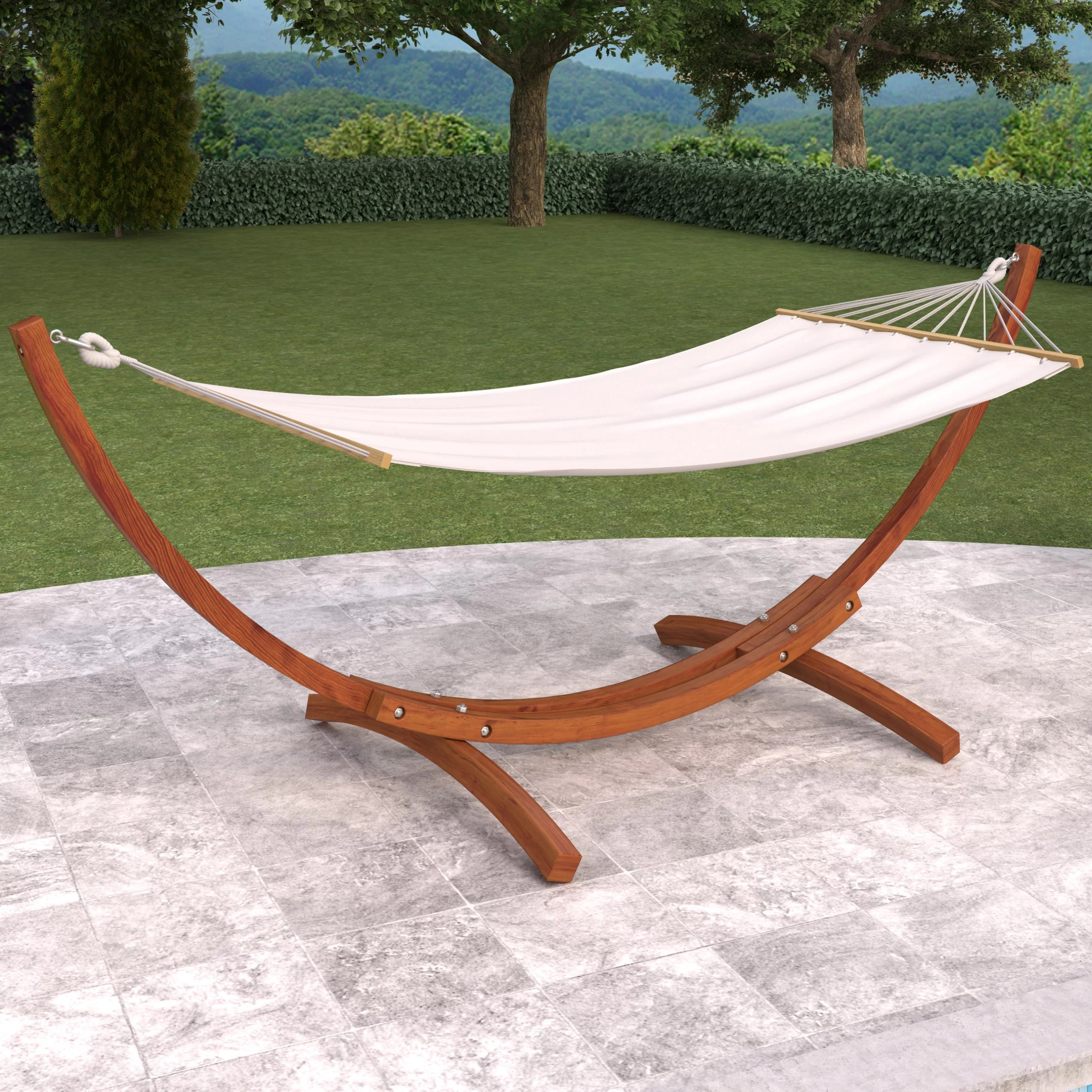 hammock chair stand canadian tire egg outdoor dcor design wood canyon patio with and reviews