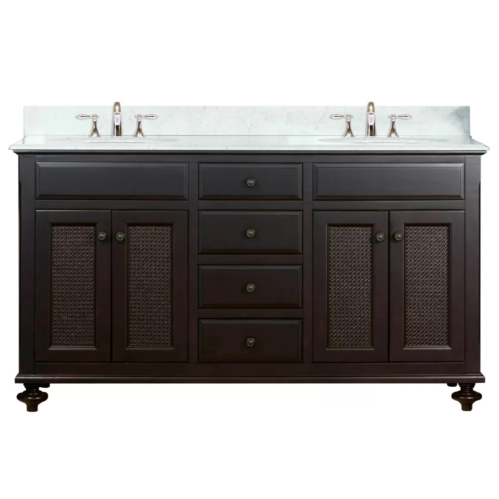dCOR design Carlson 60 Double Bathroom Vanity Set