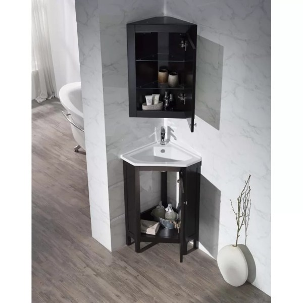 "Dcor Design Millard 24.25"" Single Corner Bathroom Vanity"