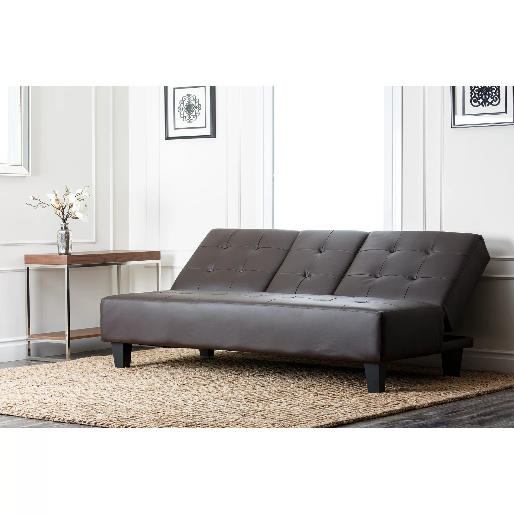 furniture row sofa sleepers stella eq3 mercury bernal sleeper and reviews wayfair