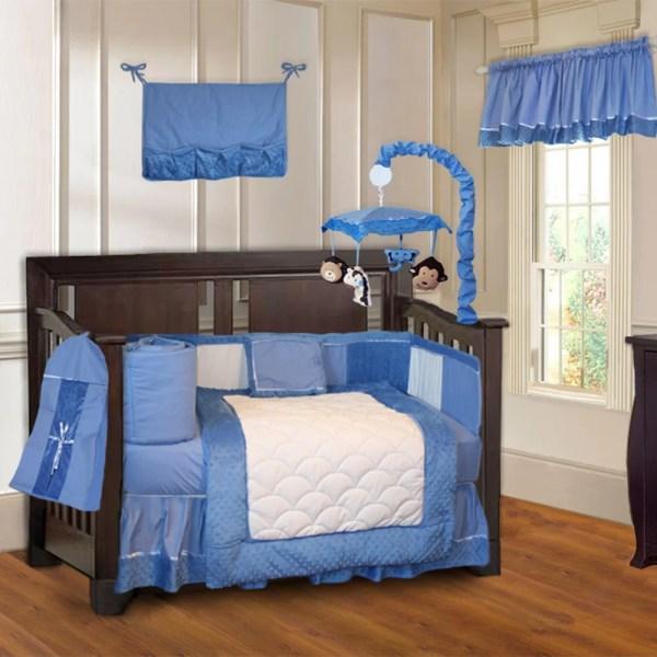 Babyfad Minky Baby 10 Piece Crib Bedding Set &