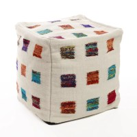 Best Home Fashion, Inc. Colorful Patchwork Accent Pouf ...