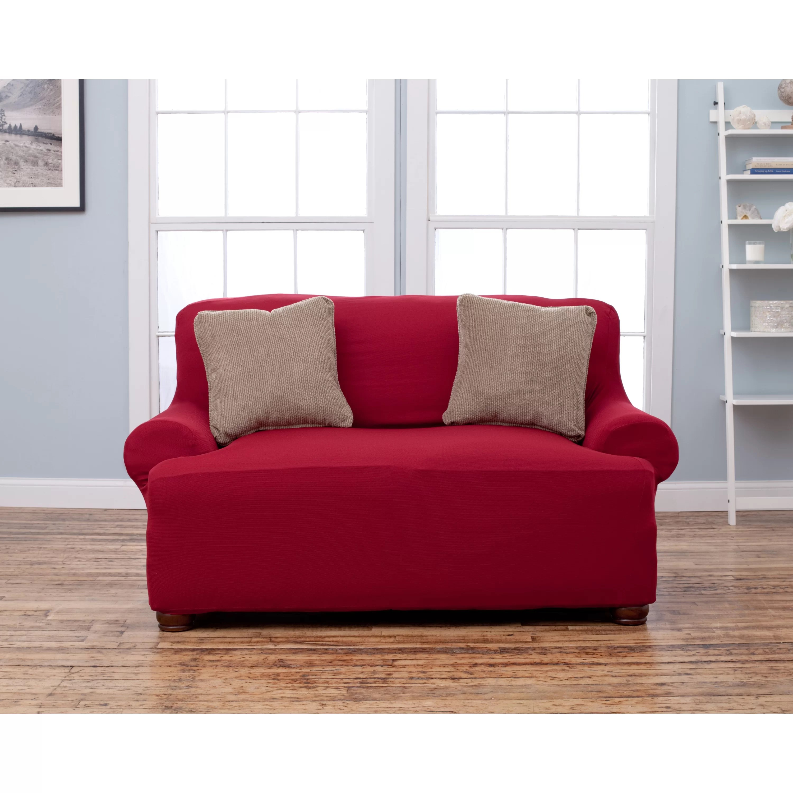 wayfair sofa covers rooms to go sectional home fashion design lucia t cushion loveseat slipcover