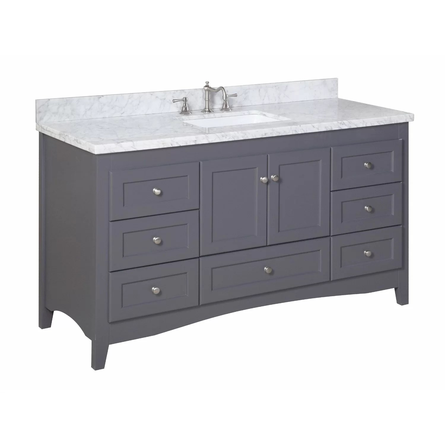 KBC Abbey 60 Single Bathroom Vanity Set  Reviews  Wayfair