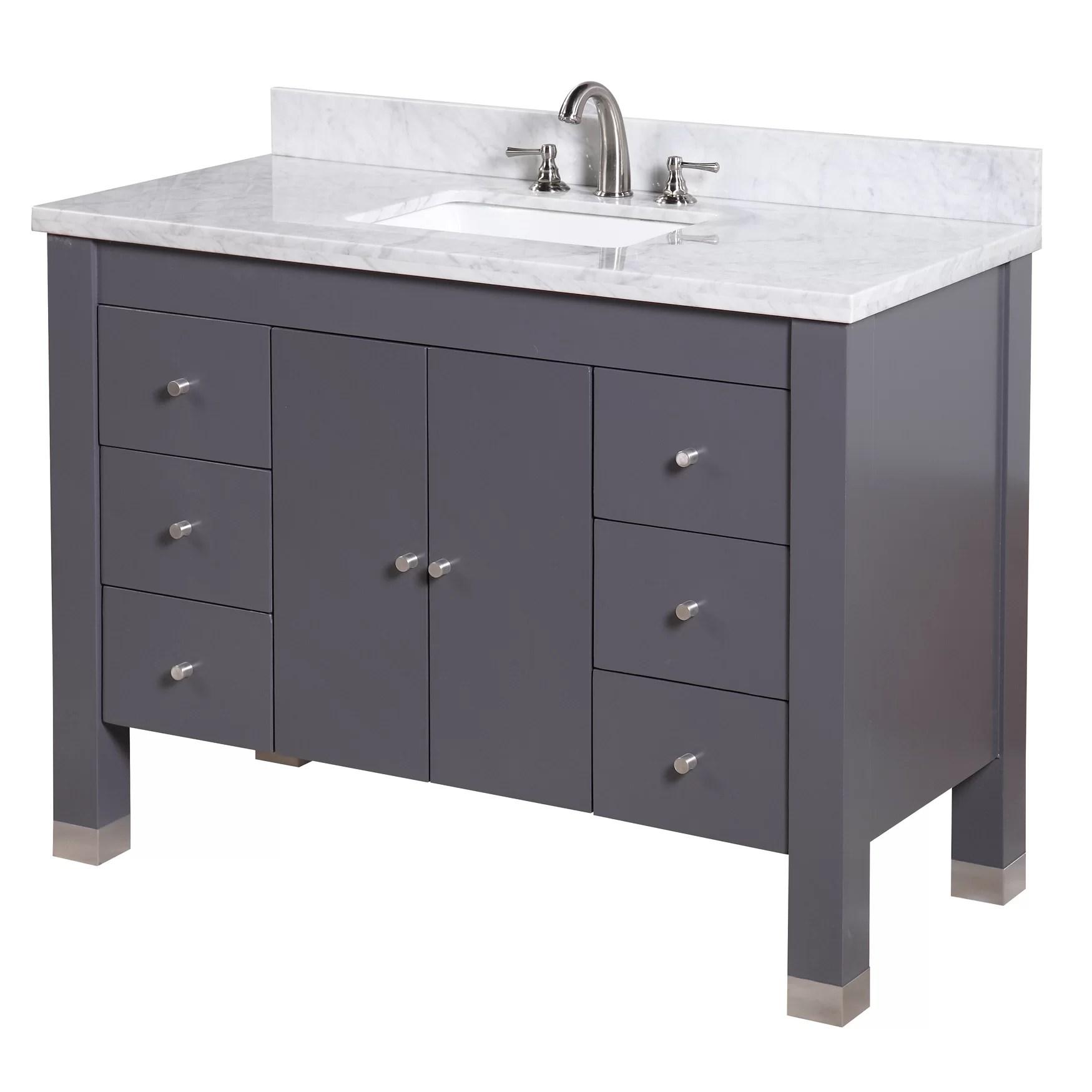 KBC Riley 48 Single Bathroom Vanity Set  Wayfair