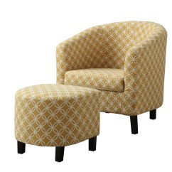Red Chair And Ottoman Pod Ikea Barrel Studio Boulevard Set