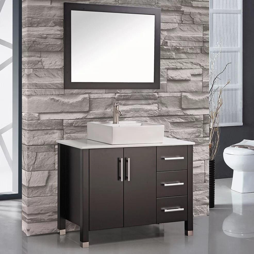 MTDVanities Aruba 40 Single Sink Bathroom Vanity Set with