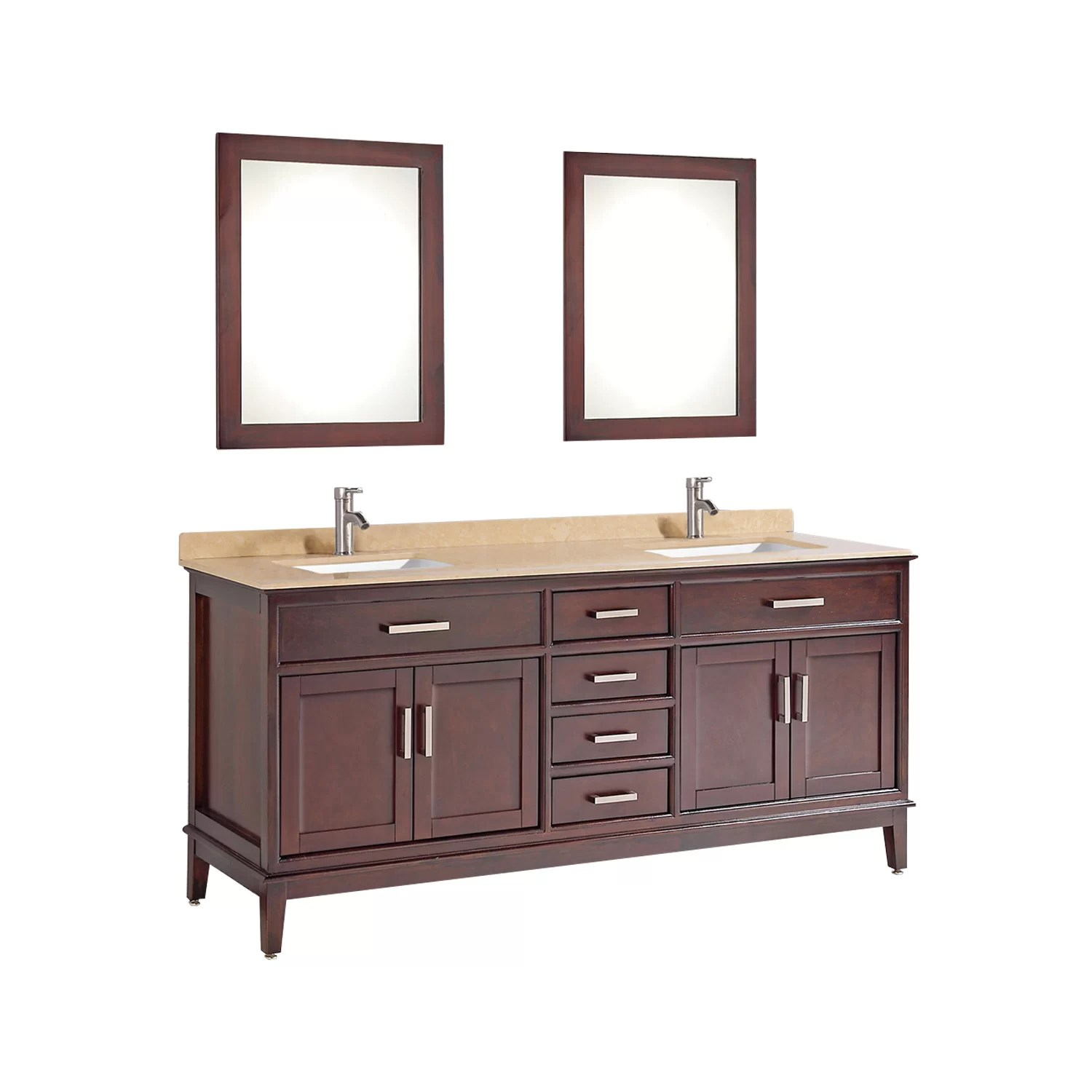 MTDVanities Sierra 598 Double Bathroom Vanity Set with