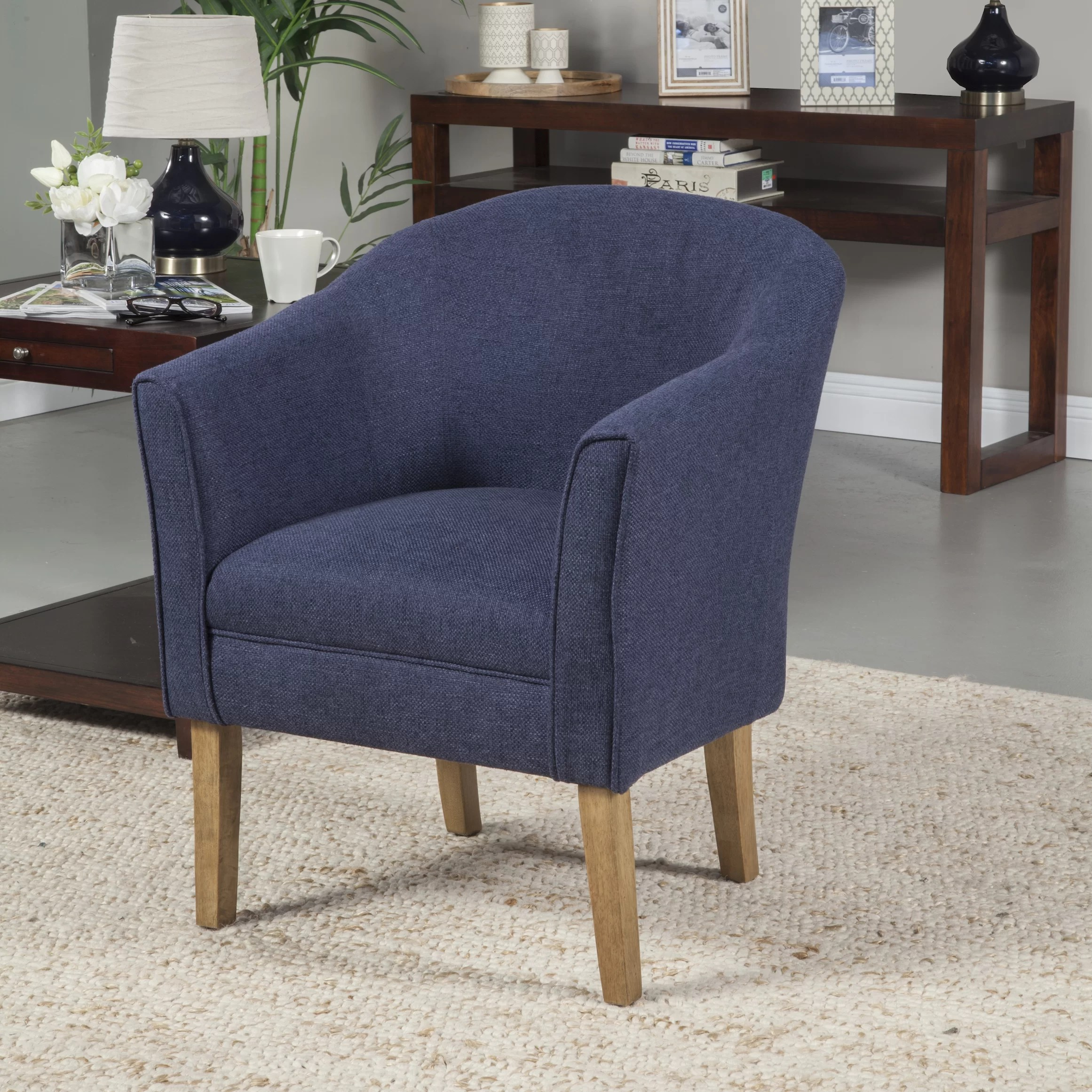 Barrell Chair Homepop Upholstered Barrel Chair And Reviews Wayfair