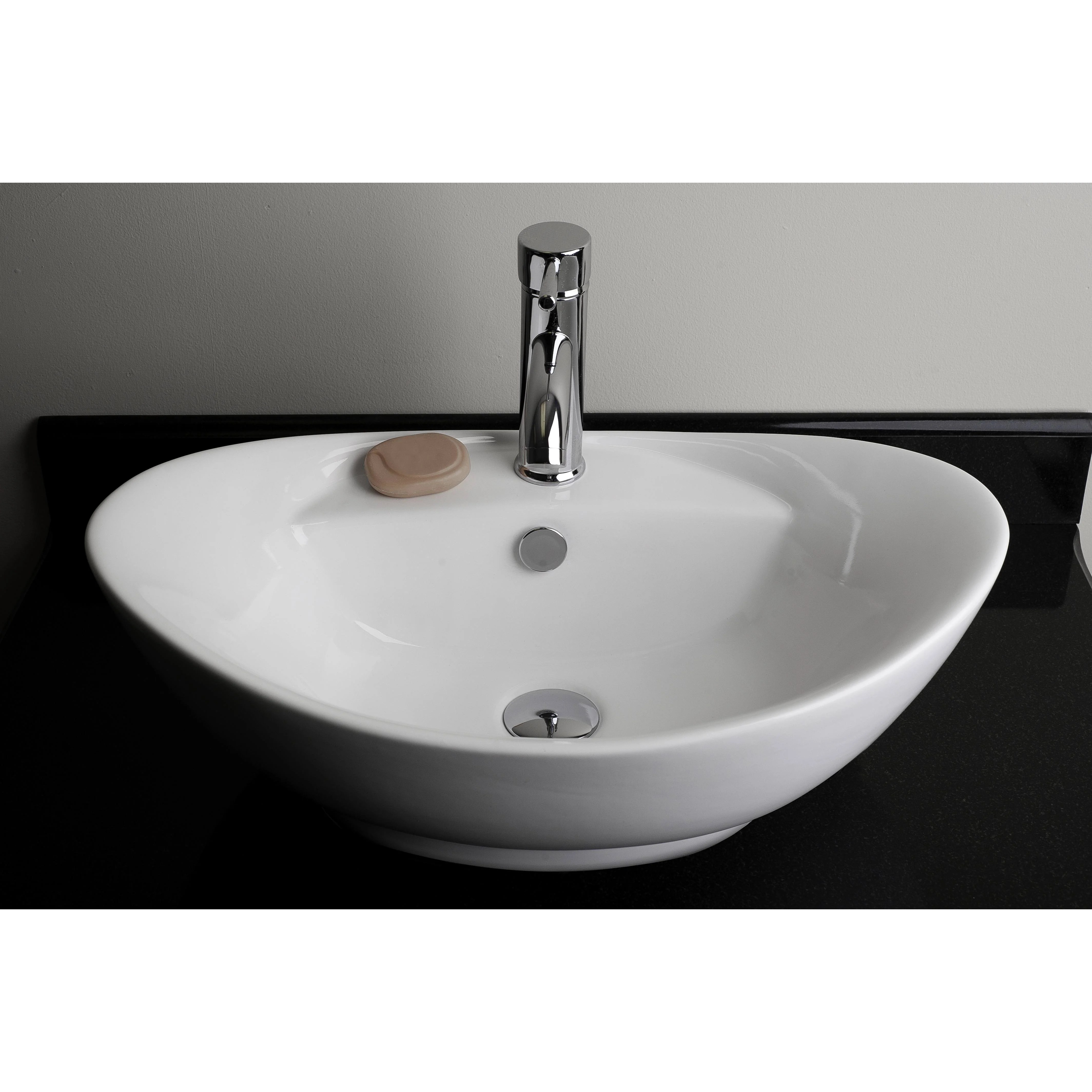 American Imaginations Above Counter Oval Vessel Bathroom