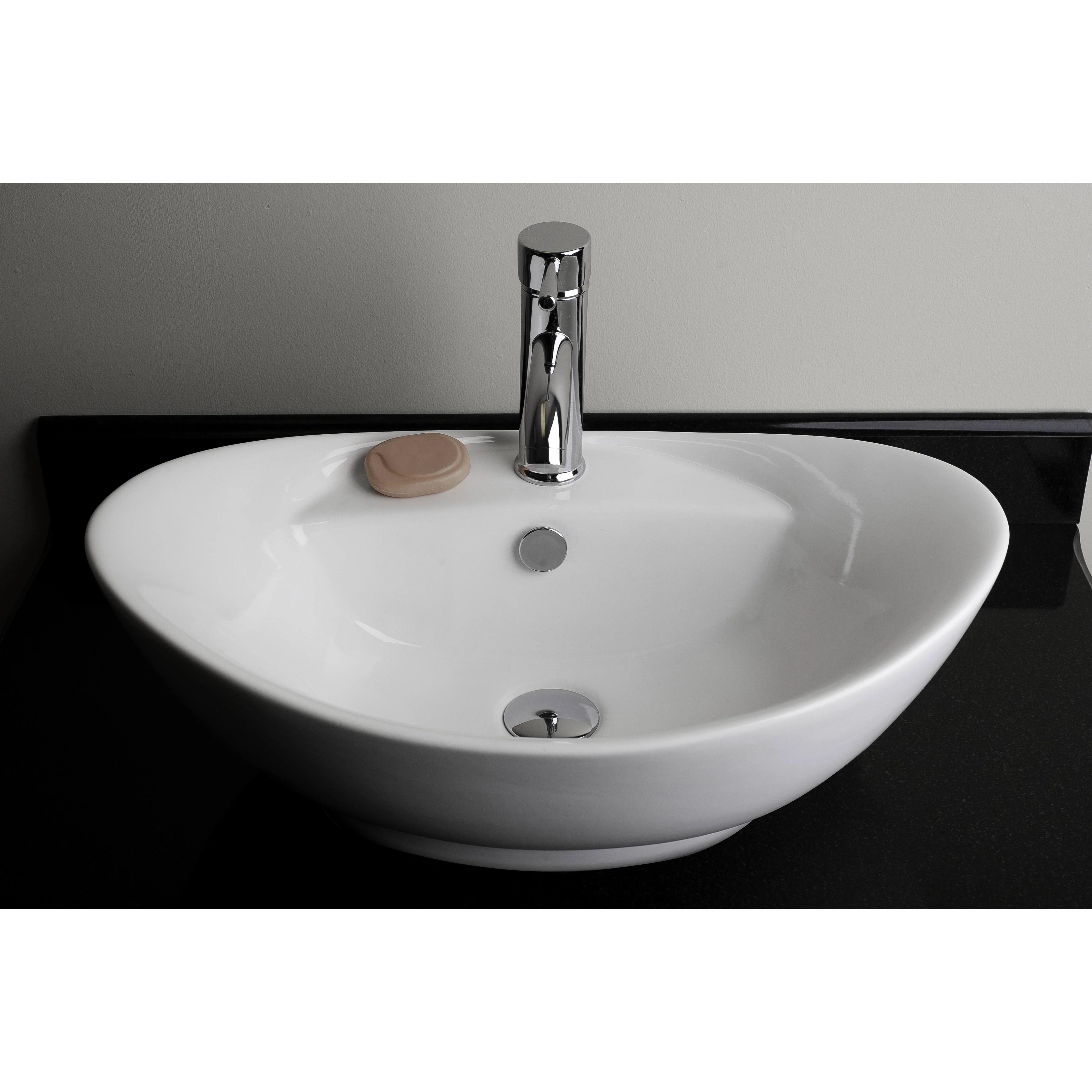 American Imaginations Above Counter Oval Vessel Bathroom