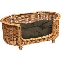 Prestige Wicker Luxury Pet Bed Basket Settee in Brown ...
