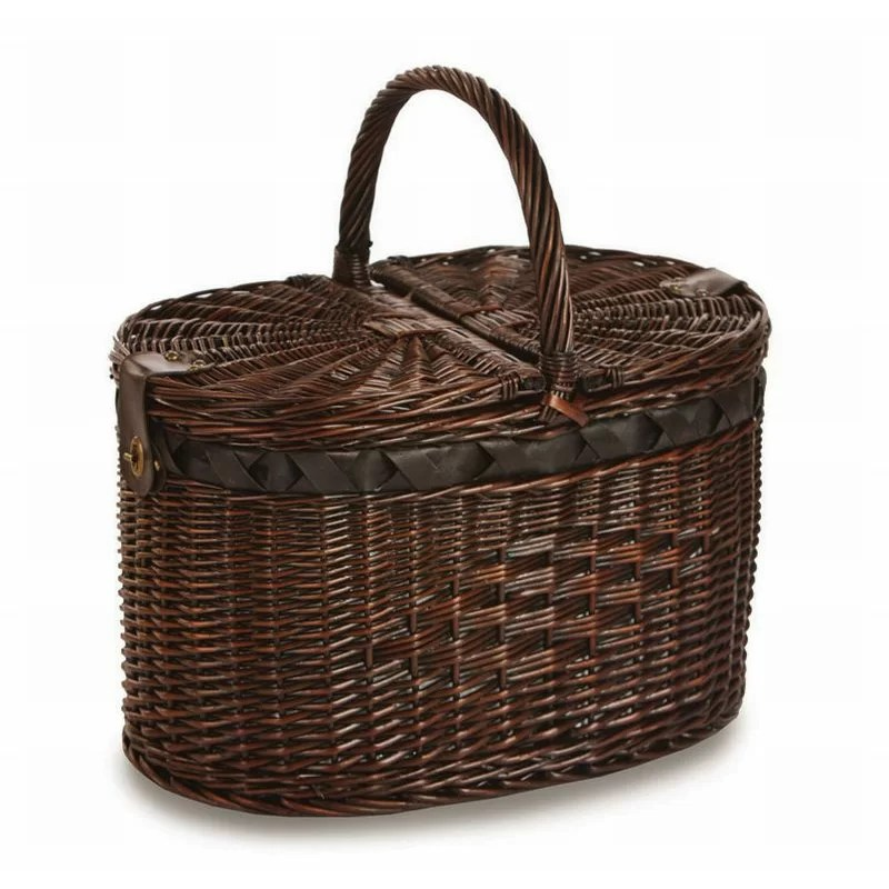 Picnic Plus by Spectrum Torrington 4 Person Deluxe Picnic Basket with Insulated Cooler & Reviews | Wayfair