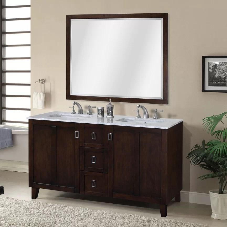 InFurniture IN 32 Series 60 Double Sink Bathroom Vanity Set  Reviews  Wayfair