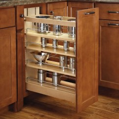 Kitchen Base Cabinet Pull Outs Refrigerator For Small Rev A Shelf Out Wood Organizer And Reviews