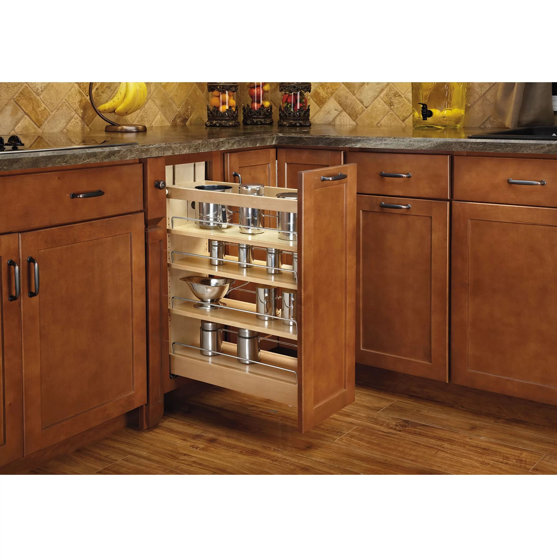 kitchen base cabinet pull outs white doors rev a shelf out wood organizer and reviews