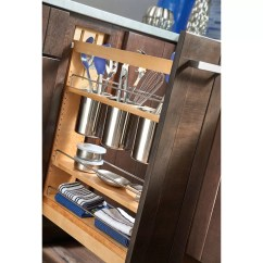 Kitchen Base Cabinet Pull Outs Modern Pulls Rev A Shelf 5 Quot Out Utensil Organizer