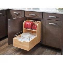 Cabinet Organizers For Kitchen Resurface Cabinets Rev A Shelf Wood Food Storage Container Organizer Base