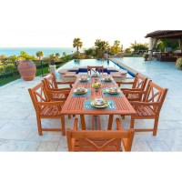 Vifah Patio 7 Piece Dining Set | Wayfair