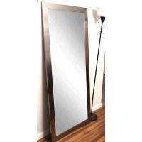 BrandtWorksLLC Modern Silver Floor Mirror & Reviews ...