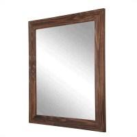 BrandtWorksLLC Rustic Espresso Wall Mirror